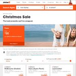 Jetstar Christmas Sale: One Way Domestic from $29, One Way International from $109