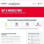 6 Weeks Free + 7% off Medibank Private Policies via Accor Staff Discount. Apply by Jan 31