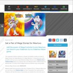 Mewtwonite X & Y for Pokémon Sun/Moon, Free via Nintendo Network