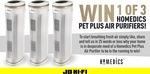 Win 1 of 3 Homedics Pet Plus Air Purifiers Worth $400 from JB Hi-Fi