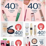 40% off - Cosmetic Range Big W - L'Oreal, Rimmel, Max Factor and More