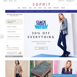 30% off Everything at Esprit Online Click Frenzy