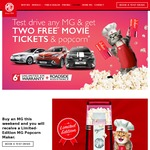 2x Free Event Movie Vouchers with Car Test Drive [MG Motors - NSW/QLD]