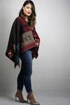 Monogrammed 100% Mongolian Lambswool Poncho Personalised - Embroider up to 3 Initials - $175 + $10 Shipping @ Farandoll
