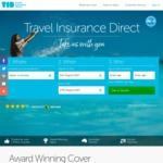 10% off Travel Insurance with Travel Insurance Direct