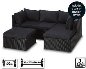 Corner Wicker Outdoor Lounge 3pc Setting At Aldi 349 2 9