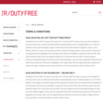 20% off select items online @ JR Duty Free