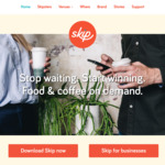 $2 Coffees at Any Skip Cafe (Pre-Order and Pay Via Skip App)