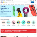 10% off When You Spend $75 or More on eBay (up to $300 Maximum Discount)