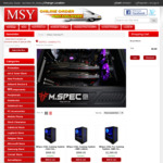 MSY M.spec System Promotion up to $500 Discount, and Easter Promotion