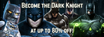 [GamersGate] Steam/PC - Become The Dark Knight: Batman Game Series on Sale up to 80% (from $4.89 AUD)