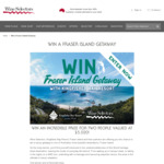 Win a Fraser Island Getaway for 2 Worth $5,020 from Wine Selectors
