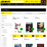JB Hi-Fi - DVD, Blu-Ray and 3D - 4 for $20 ($5 Each) Normally $6.98 Each