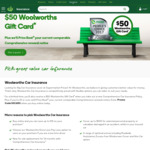 Comprehensive Car Insurance - Price Beat (for Customers Over 25 Yrs) + $50 Gift Card @ Woolworths Insurance