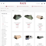 60% off Camping Canvas Swags $159 Double or $119 Single - Free Shipping @ Rays