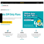 Data SIM 200GB $60/Month (12 Months Contract) @ Optus