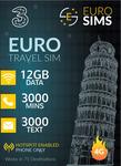 40% off Europe 4G/3G Travel SIM $37.77 + 71 Countries + 12GB Data + 3000 Min Calls + 3000 Texts to UK & EU @ Euro Sims