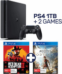 PlayStation 4 1TB Console + Red Dead Redemption II and Assassin's Creed Odyssey $499 @ EB Games