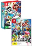 [Switch] Super Mario Party + Smash Bros Ultimate (Pre-Order) + 2x Joy-Con $199.95 Delivered @ City of Game