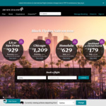 Air NZ: SYD to Hawaii from $629 Return, Queenstown from $219 One Way and More (Many Dates up to Sep Next Year)