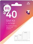 Telstra $40 SIM Starter Kit $15 @ Telstra Online