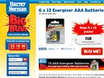 Harvey Norman Big BUYS! Just $18 on 72 Genuine AAA Energizer Batteries [SOLD OUT]