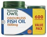 2 Packs of Nature's Own Fish Oil 1500mg 600 Capsules - $56.98 Delivered @ Chemist Warehouse eBay