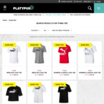 Puma Logo Tee Men's/Women's White/Black/Grey All Size Available $9.99 (Was $25-$35) @ Platypus (C&C /Spend $25 Shipster Shipped)