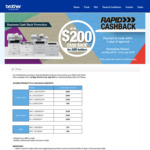 Up to $200 Cashback on Brother Printers