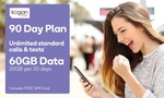 Kogan Mobile $9.40 (or $8.91) for 90-Day Unlimited SIM Plan with 60GB Data @ Groupon ($8.42 for new Groupon Buyers)