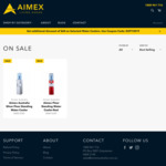 Aimex Standing Water Coolers $325/$329 ($60 off) @ Aimex Australia