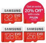 Samsung EVO Plus MicroSD 64GB $15.96, 128GB $26.95, 256GB $55.96 + Delivery (Free with eBay Plus) @ Apus Auction eBay