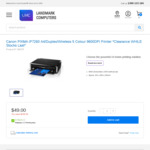 Canon PIXMA IP7260 A4 Wireless Printer $49 + Delivery @ Landmark Computers