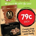 [WA] Magnum Almond 440ML Ice Cream Tubs $0.79 @ Spudshed