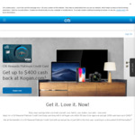 $400 Cash Back on Kogan Purchases with Citi Rewards Platinum Card ($49 Annual Fee First Year) @ Citibank (New Customers)