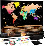 99% off Scratch off Map, $0.35 + Delivery (Free with Prime/ $39 Spend) @ Hustle Home Amazon AU