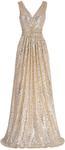 Kate Kasin Stunning Sequined Sleeveless V-Neck Bridesmaids Dress  USD $26.99 / AUD $39.37 (50% off) @ Kate Kasin