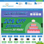 20th Birthday Celebration - 20% off Site Wide @ Johnny Appleseed GPS (Excluding DJI)