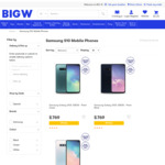 Samsung Galaxy S10e 128GB $769 | Google Pixel 3 $569 + Delivery @ Big W (Online Only)