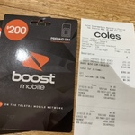 [SA] Boost Mobile $200 150GB Starter Sim 6 Months $150 @ Coles, Rundle Place Adelaide
