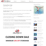 [VIC] Closing down Sale 10% Minimum off Storewide @ Mind Games 244 Swanston Street