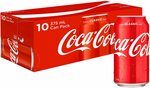 10x 375ml Coca-Cola Cans: Classic & Diet $5.54ea, Vanilla & No Sugar + Others $6.84ea Delivered via S&S @ Amazon AU