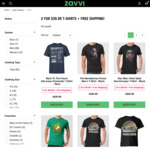 2 for $39.99 Merchandise T-Shirts + Free Shipping - Zavvi
