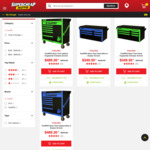 ToolPro 42inch Neon Tool Cabinet $489.30 and Tool Chest $349.30 @SuperCheapAuto