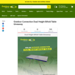 Win a Dual Height Bifold Table Valued at $119.95 from Outdoor Connection