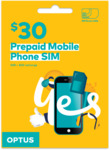 Optus Prepaid $30 SIM Starter Kit $5 Delivered @ Optus