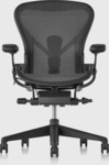 Herman Miller Aeron Chair Remastered, Graphite, Size B $1690 + $80 Delivery/Pickup in Sydney @ Living Edge