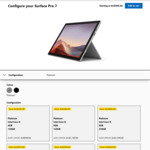 Microsoft Surface Pro 7 i5 8GB 128GB Platinum $1199,  i7 16GB 512GB $2519 & More Delivered @ Microsoft Store