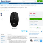 Logitech G305 Lightspeed Wireless Gaming Mouse $63 (Was $99) C&C / + Postage @ Harvey Norman