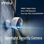 Imou LOOC Wi-Fi 1080p IP65 Rated Outdoor Camera $69.99 ($67.19 with eBay Plus) Delivered @ imou eBay